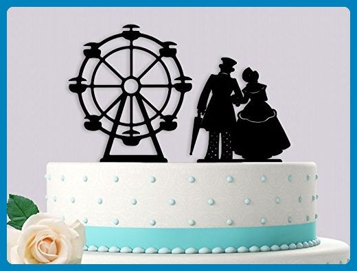 Vintage couple with ferris wheel style wedding cake topper cake vintage couple with ferris wheel style wedding cake topper junglespirit Choice Image