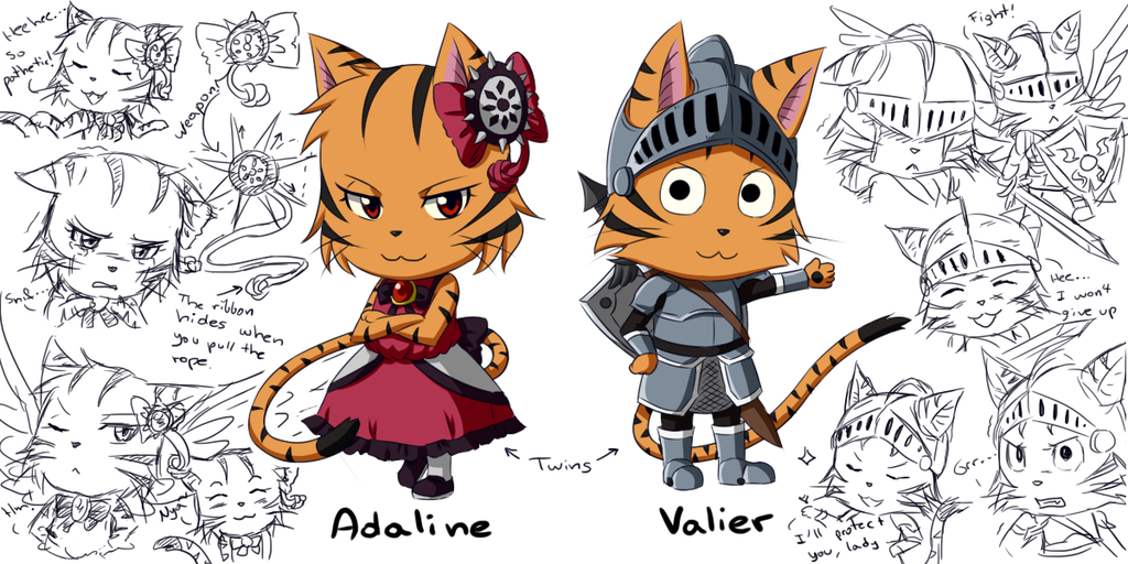 Fairy Tail Exceed Creator Ft Ocs Adaline And Valier By Adricarra
