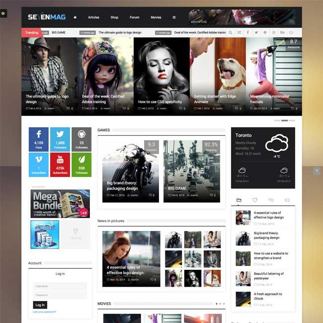 SevenMag Blog/Magzine/Games WordPress Theme | WordPress Themes Review 2015