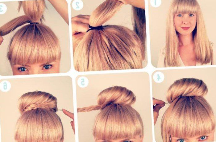 Coiffure Cheveux Attaches Facile Automne Hiver 2019 Diy Hairstyles Hair Tutorial Girls Braids