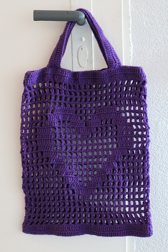 Photo of Crochet pattern for a shopping bag with a heart by Ars Vera