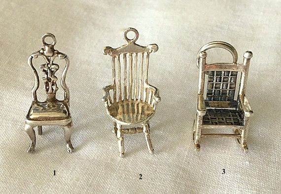 Vintage Sterling Silver Chair and Rocking Chair by MagicalUniverse