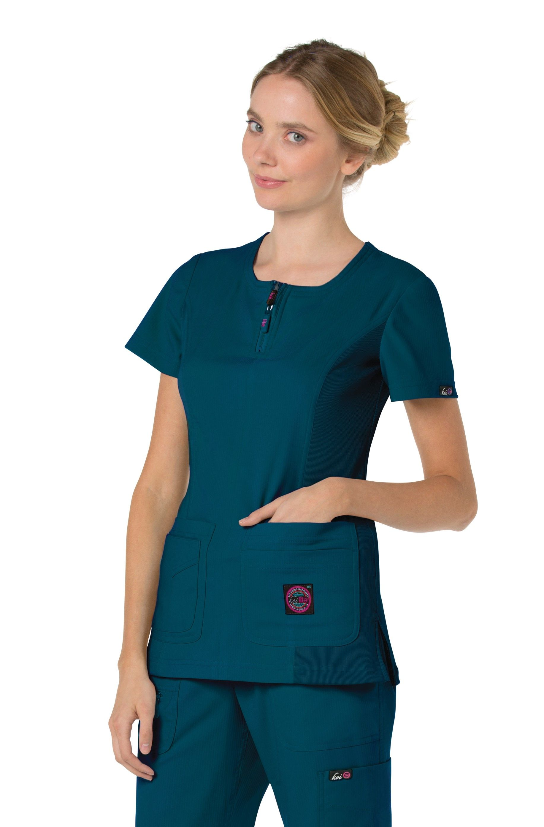 2644fdadf67 Koi Lite Serenity Scrub Top in Caribbean Blue. | 2017 Arrivals in ...