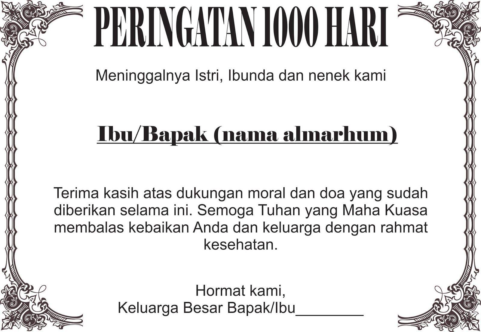 Ucapan Mengenang 1000 Hari Wafatnya Di 2021 Doa Islamic Quotes Kutipan Doa