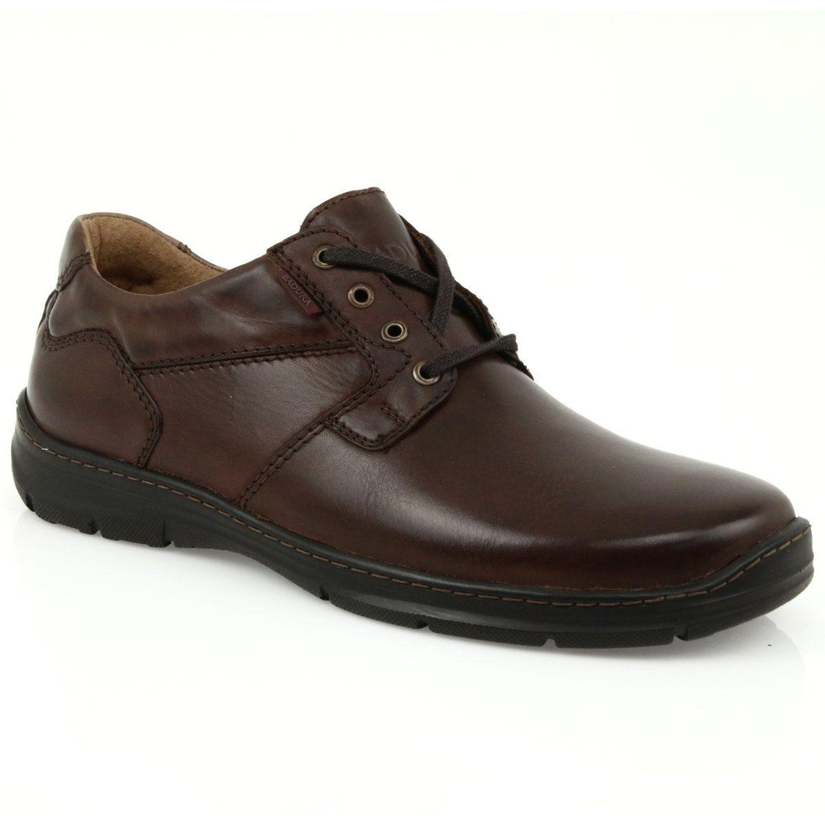 Badura Buty Meskie Komfort 3509 Brazowe Dress Shoes Men Casual Shoes School Shoes