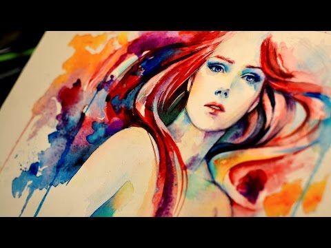The Last Dance - Watercolor / Airbrush Speedpaint - YouTube