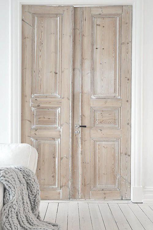 Whitewash Reclaimed Doors.