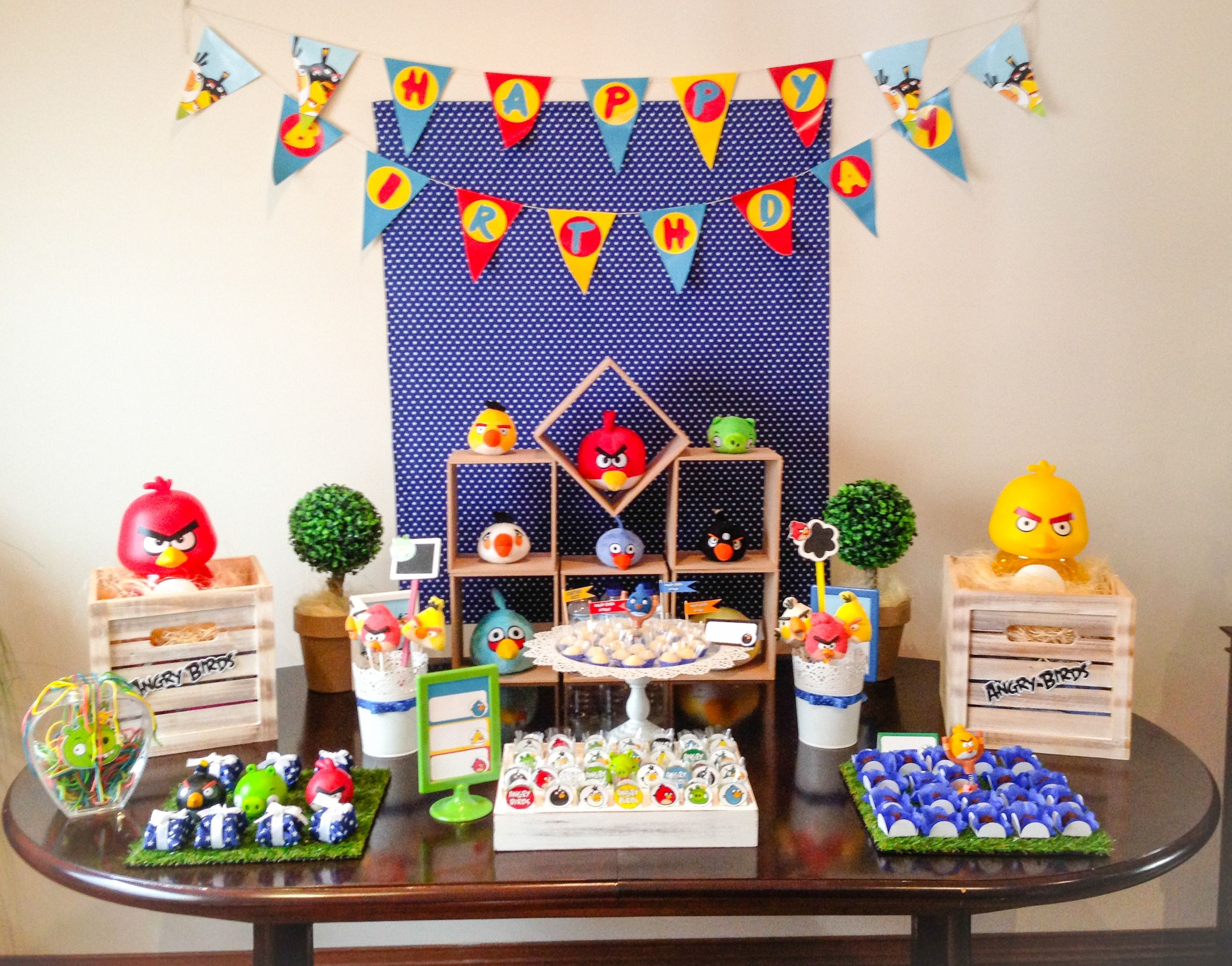Angry Birds Table Decoration Angry Birds Angry Birds Bird Party