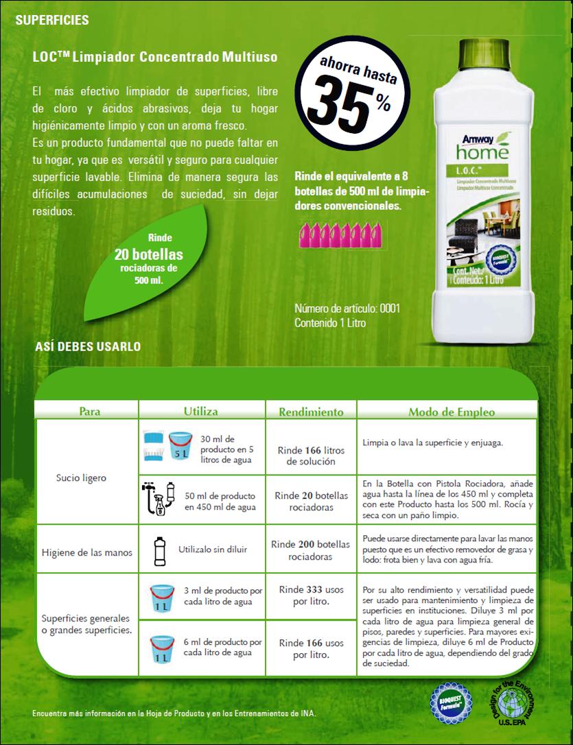 Multiusos Productos Amway La Vida Verde Salud Integral