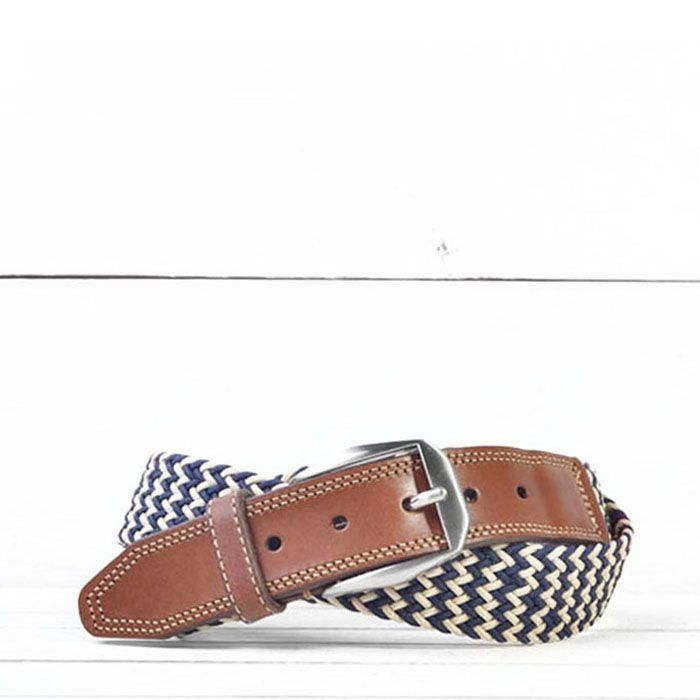 Martin Dingman Beck Belt Navy/Sand
