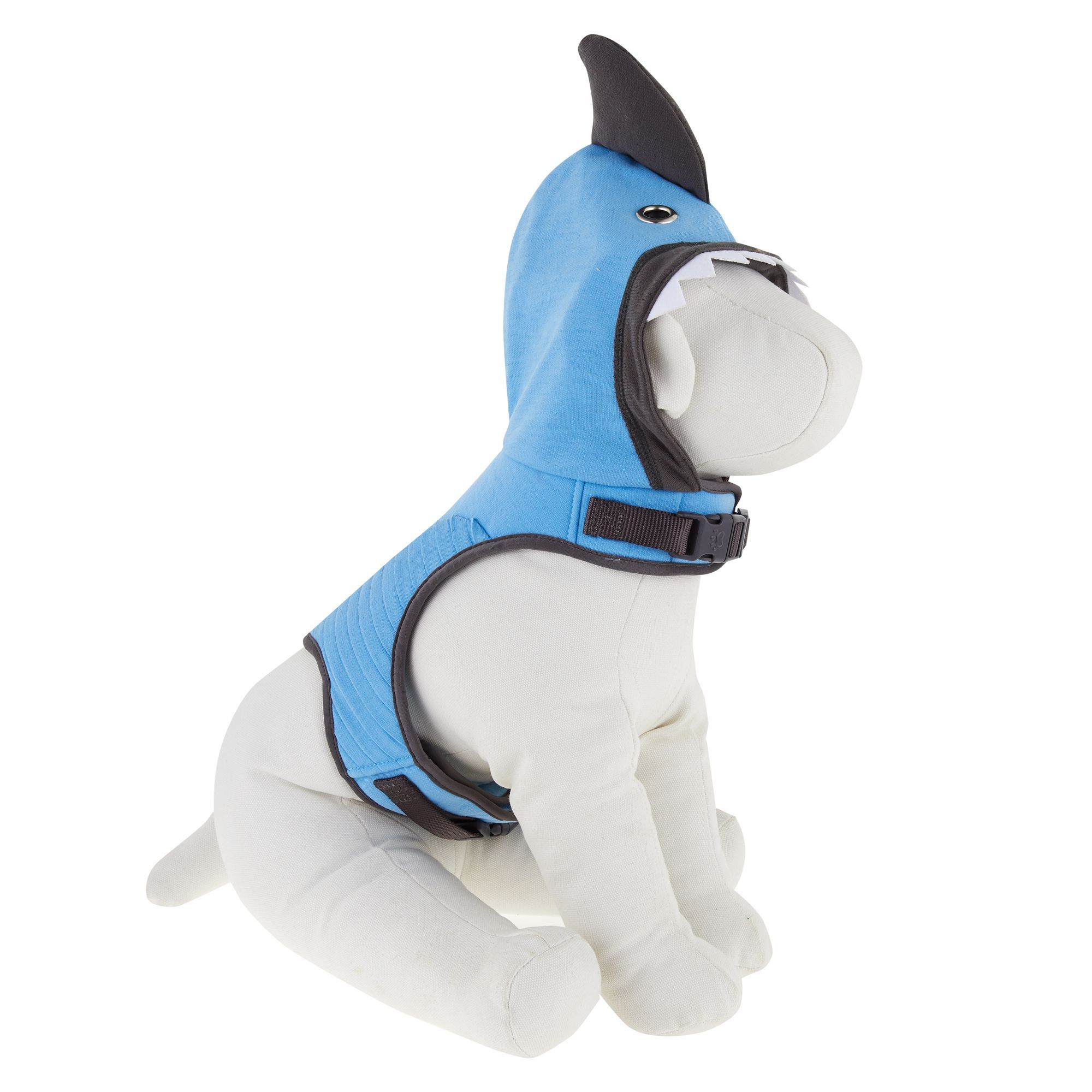 Top Paw Shark Hoodie Vest Puppy Dog Harness Size X Small Blue