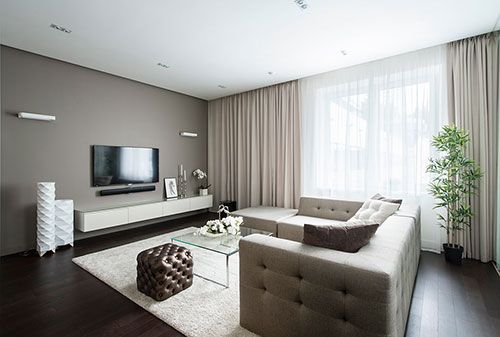 moderne interieur inrichting van klein appartement in moskou, Deco ideeën
