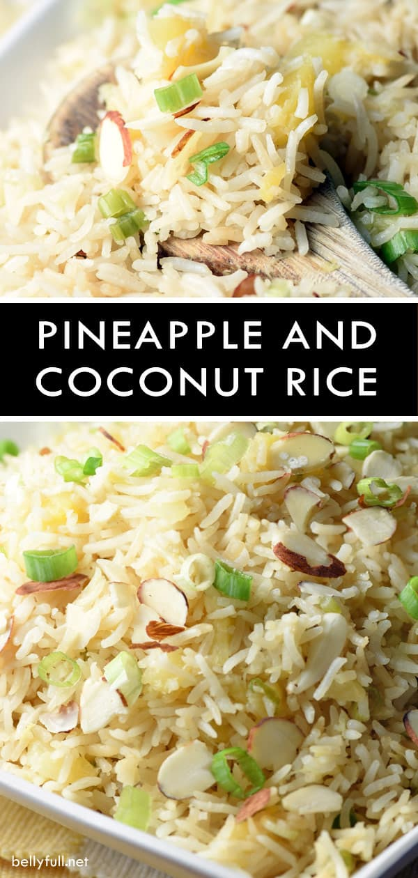 Pineapple and Coconut Rice #chickensidedishes