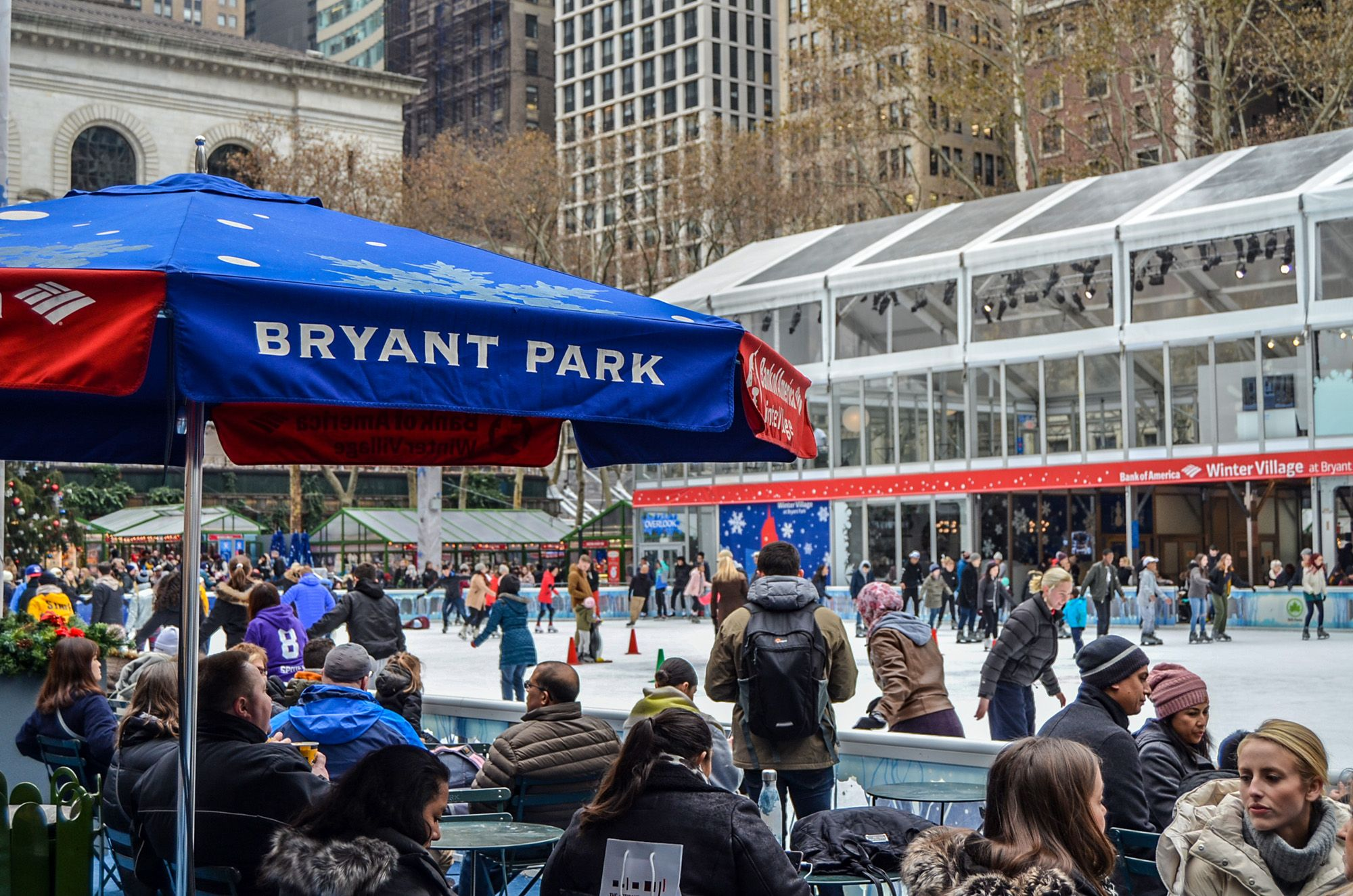 Bryant Park, Ruta andando por Manhattan