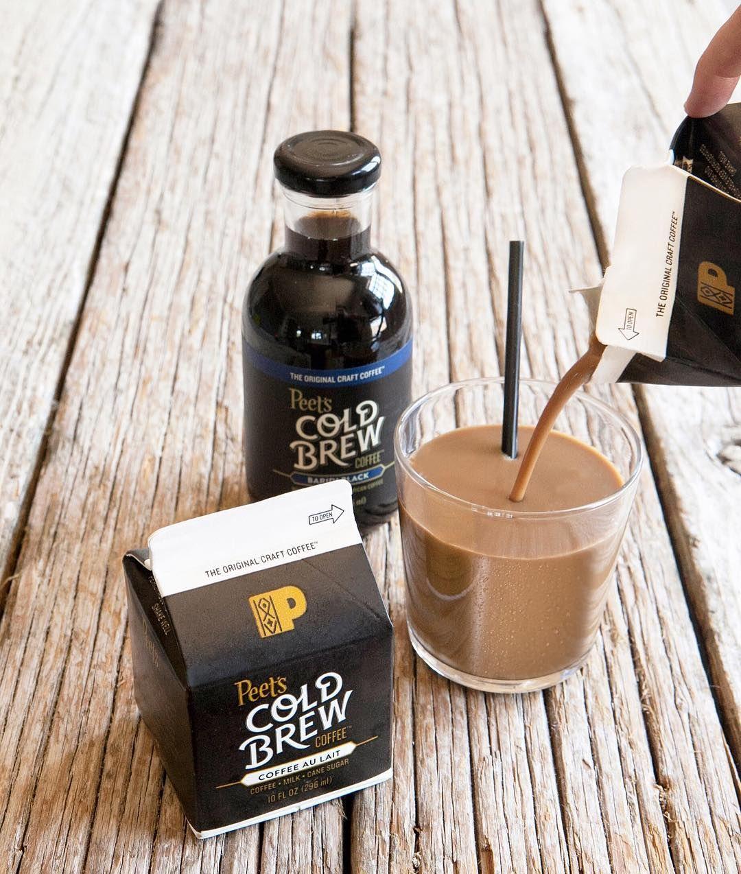 Peets coffee tea cold brew bottles and carton san
