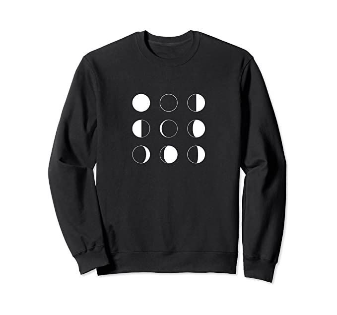 Photo of Moon Phases Silhouettes Modern Minimal Outer Space Astronomy Sweatshirt