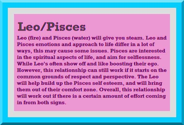 Leo man and pisces woman break up