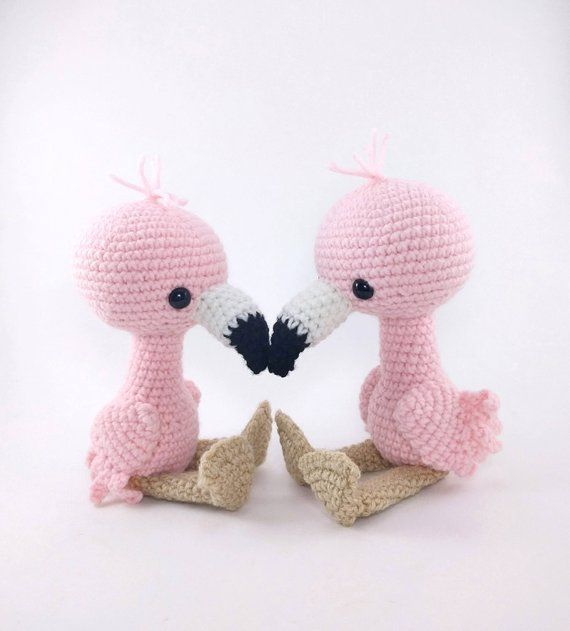 PATTERN: Flamingo Friends - Crochet flamingo pattern - amigurumi flamingo pattern - PDF crochet pattern - English only #crochetelephantpattern