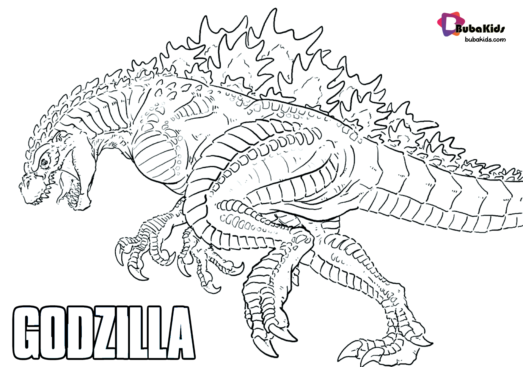 Godzilla King Of Monsters Free Printable Coloring Page Bubakids Com Godzilla Bubakidscom Godzill Coloring Pages Coloring Book Pages Animal Coloring Pages