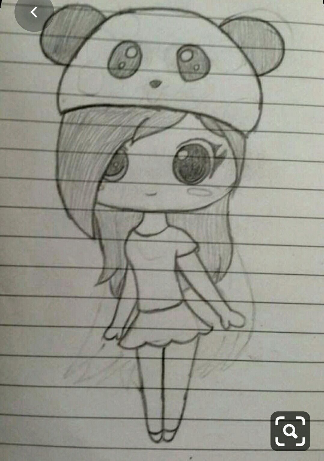 Cute Panda Girl Art Drawings Sketches Simple Easy Drawings Sketches Girly Drawings