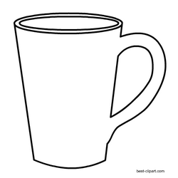 Black And White Coffee Mug Clip Art Free Clip Art Free Clip Art Door Hanger Template
