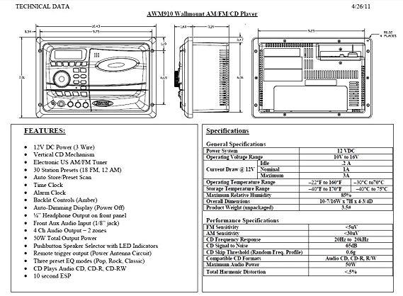 jensen radio wiring diagrams awm910  google search