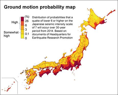 Megaquake Risk Higher For Areas Along Japans Pacific Coast AJW - Japan map quake