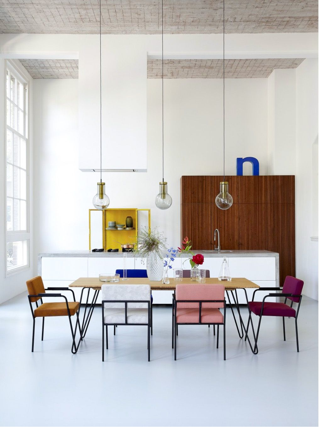 50s inspired dining space | dining rooms | Pinterest | Kücheninsel ...