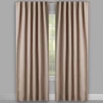 Taupe Linear Texture Rod Pocket Window Curtains, Set of 2 ...
