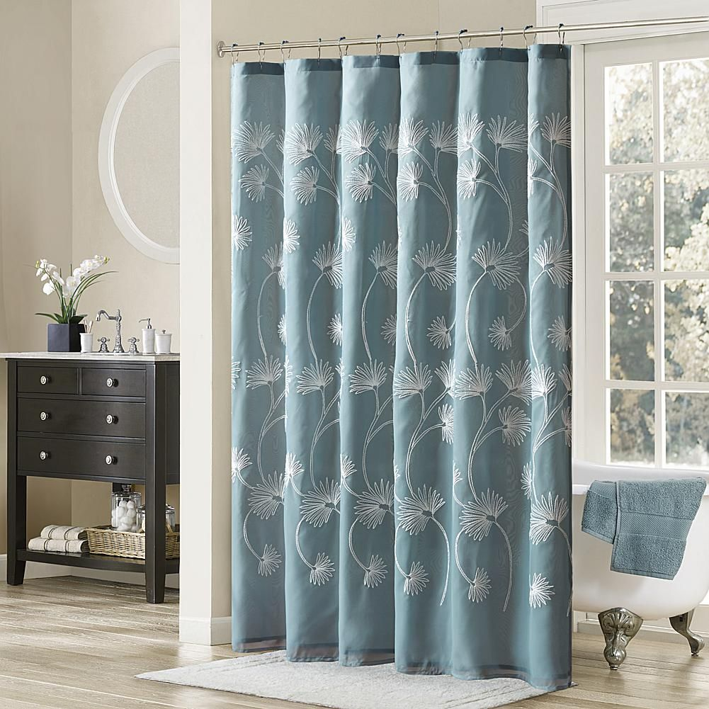 Madison park gwyneth embroidered shower curtain blue products
