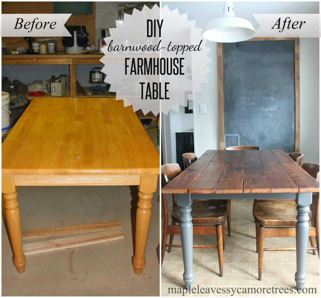 Maple Leaves Sycamore Trees DIY Barnwood Table Perfect Redo For Our Old To Put In New Cabin