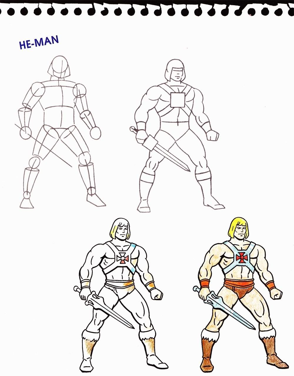How to draw www he man org