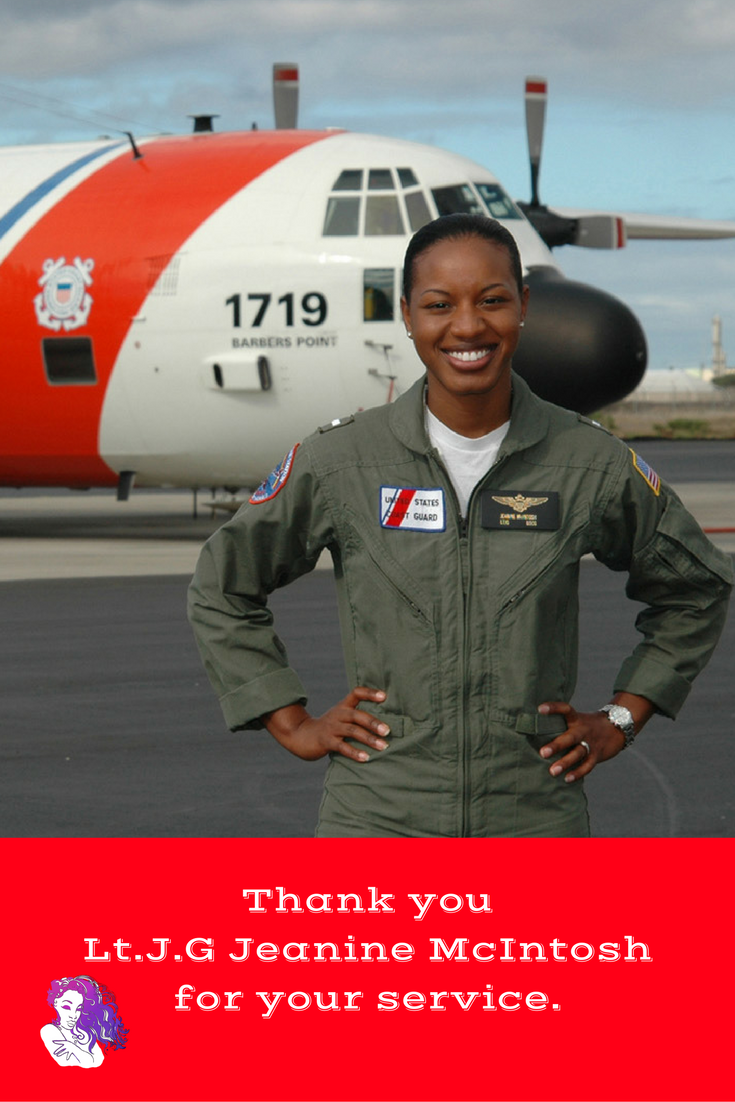 Lt.j.g. Jeanine McIntosh the first African