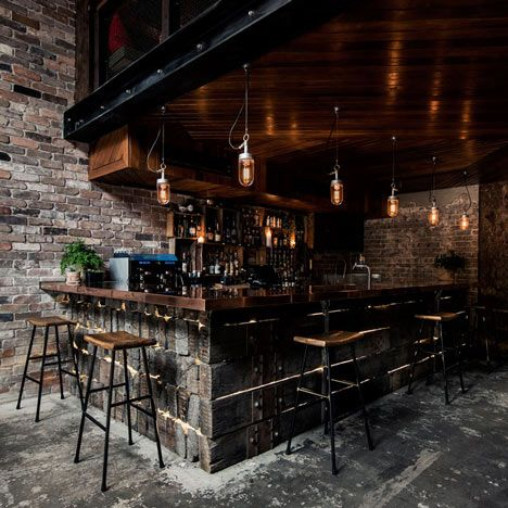 cool bar furniture for lofts. luchetti krelle completes atmospheric sydney bar based on a new york loft cool furniture for lofts o
