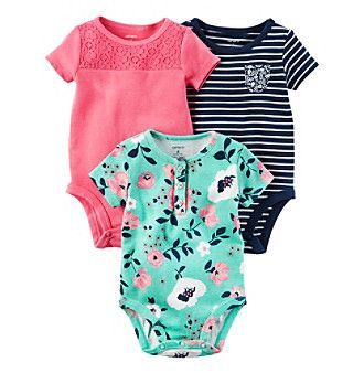 Carter's® Baby Girls' 3 Pack Bodysuits Set