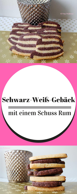 Schwarz-Weiß-Gebäck mit Rum | Rum, Backen and Kuchen