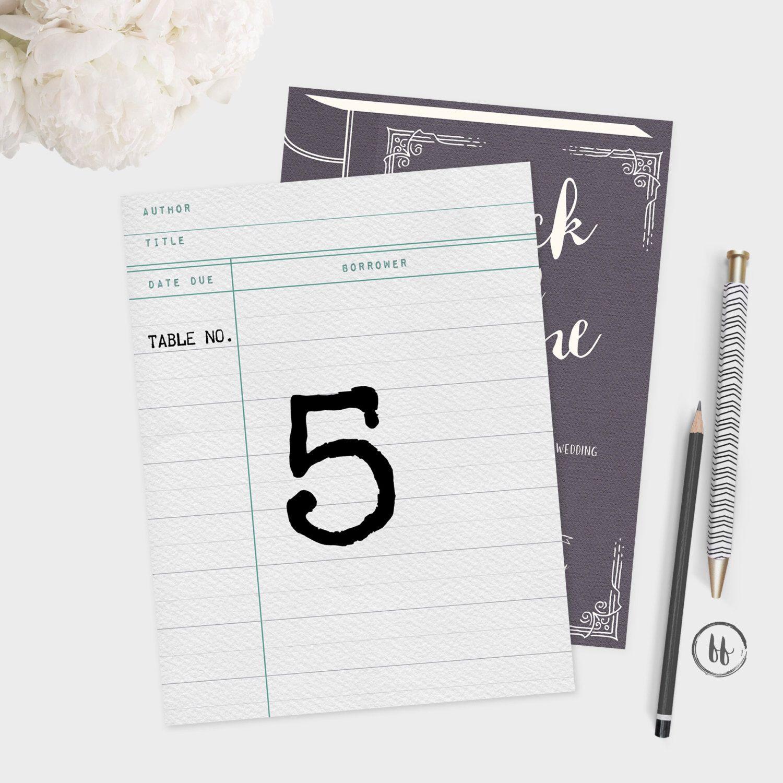 PRINTABLE Wedding Table Numbers | Printable Table Numbers | Book ...