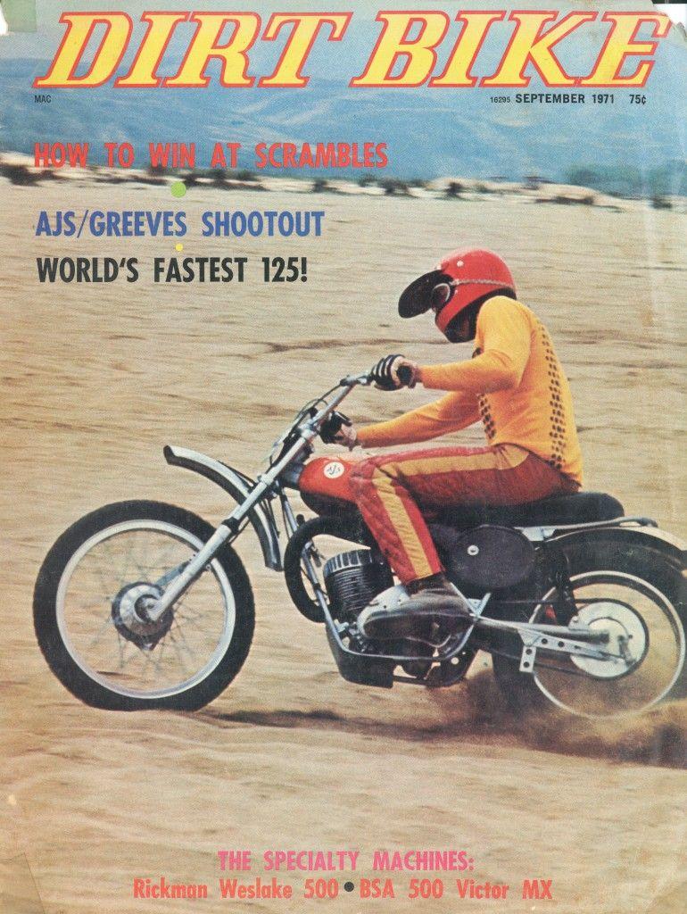 Alan Paul Wurtzel Over Of September 1971 Dirt Bike Magazine