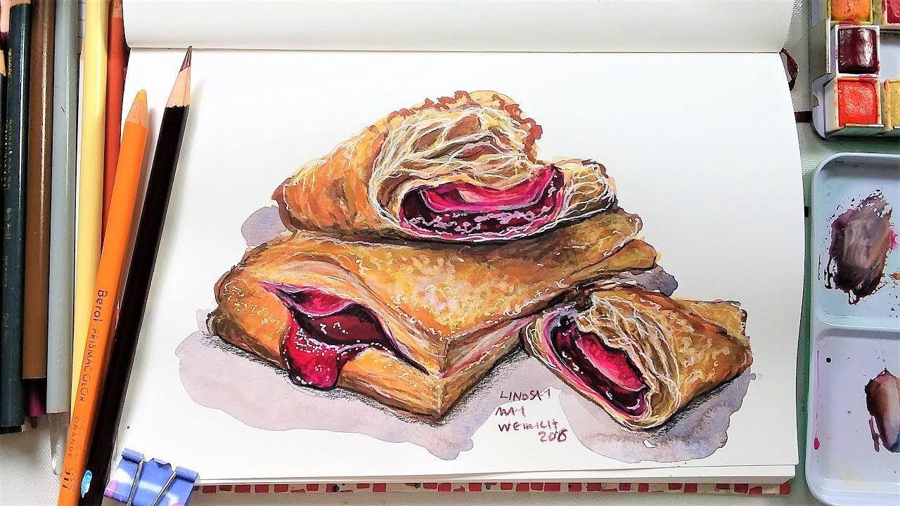 How To Draw Buttery Flaky Crust Sketchbook Sunday The Frugal