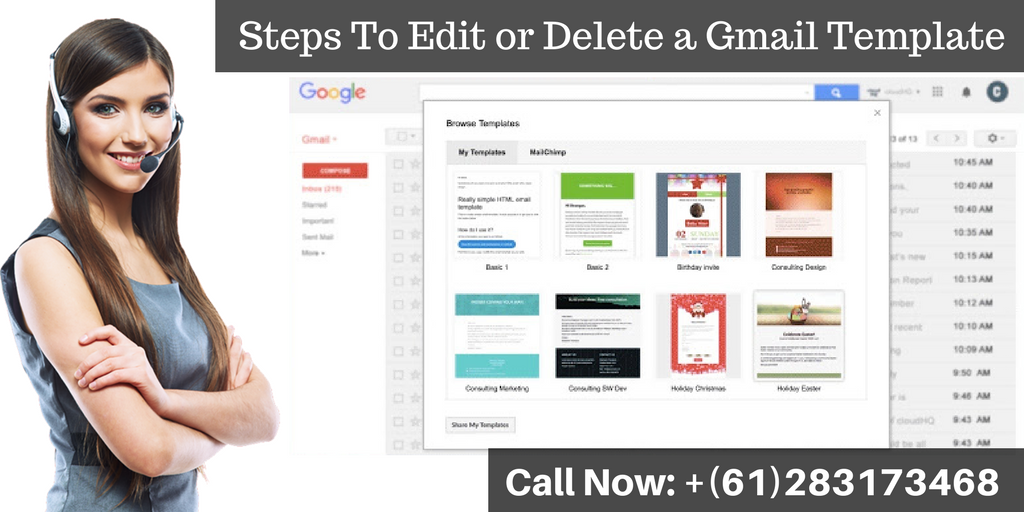 Read this blog and learn how you can edit or #DeleteGmailTemplate. If you want to get more information about Gmail template editing process, contact our #GmailTechnicalSupportNumber +(61)283173468 and get the relevant information. #EditGmailTemplate