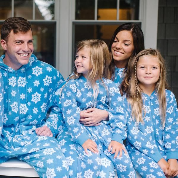 SleepytimePjs family matching holiday blue snowflake footed pajamas are  perfect for the entire family. Cuddle up and relax with the family all  winter long. 11811655f