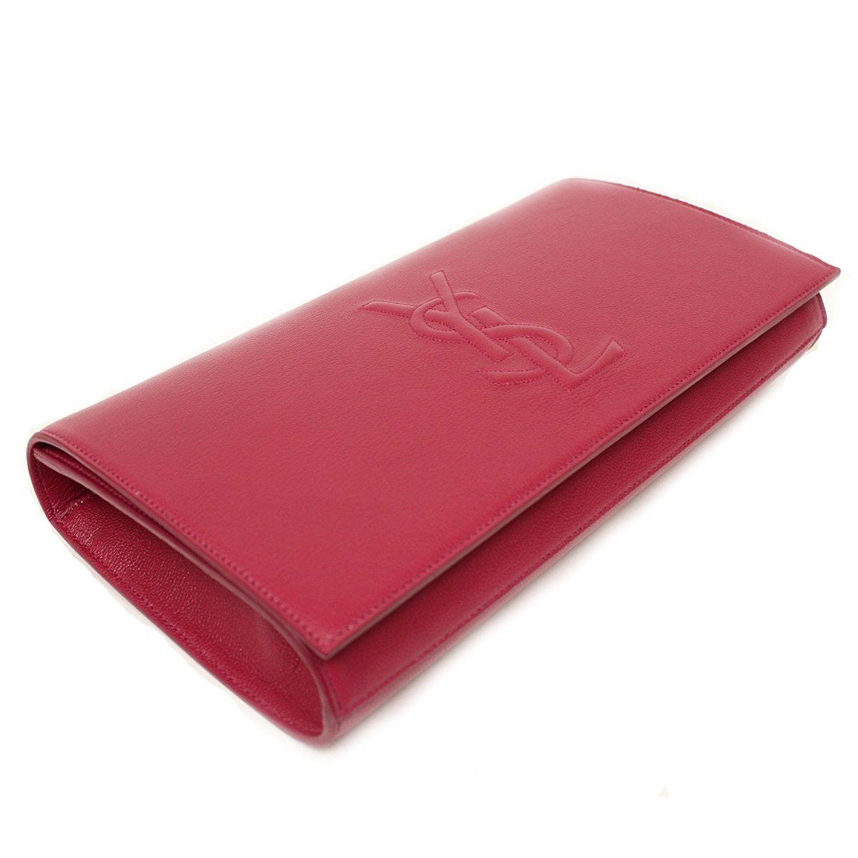541be7fffa3b Yves Saint Laurent YSL Belle De Jour Large Hot Pink Envelope Clutch ...