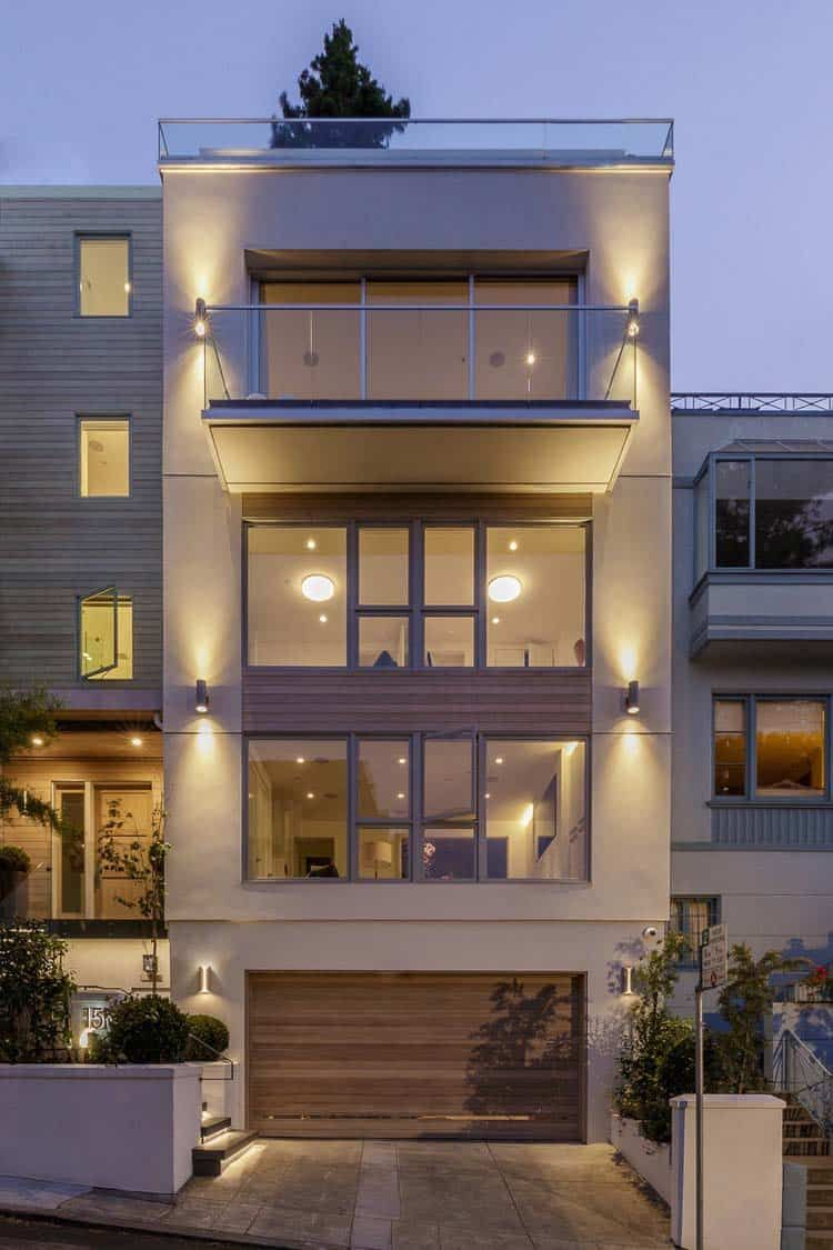 Modern Townhouse Townhouse Designs San Francisco: Vertical Home In Russian Hill Transformed Into A Family Friendly Oasis
