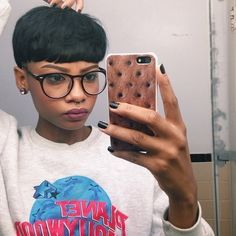 Curly Bowl Cut On Black Women Google Search Natural Looks