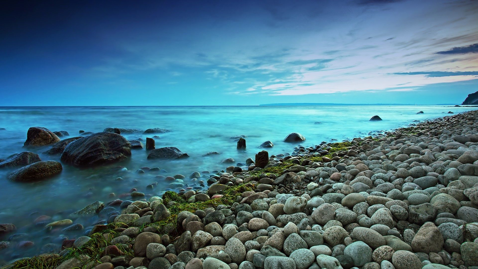 Blue Hour On The Baltic Beach Wallpaper Summer Beach Wallpaper
