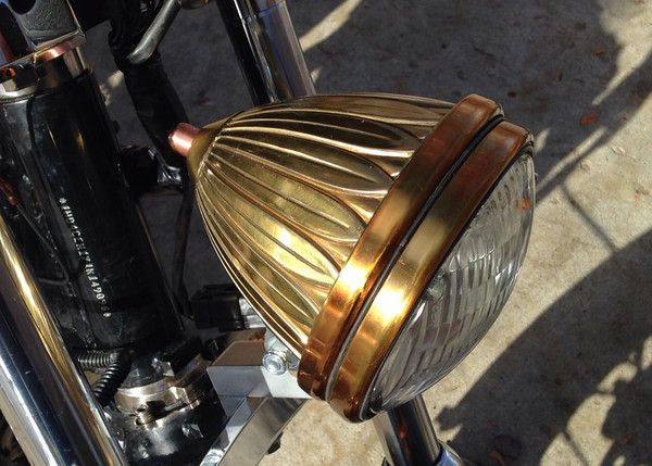 Antique Brass Car Headlights : Brass headlight diy for the sportster and buell