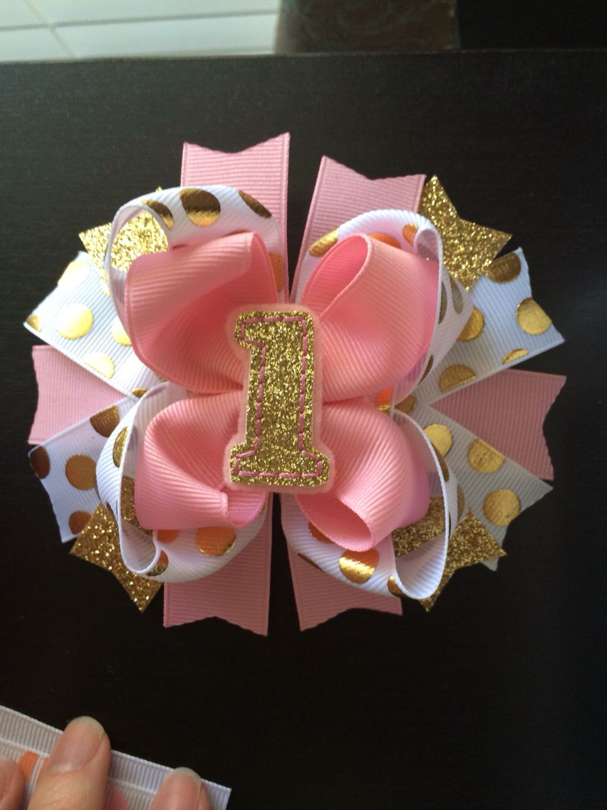 Red and Gold Dots Glitz Boutique Bow on Woven Headband