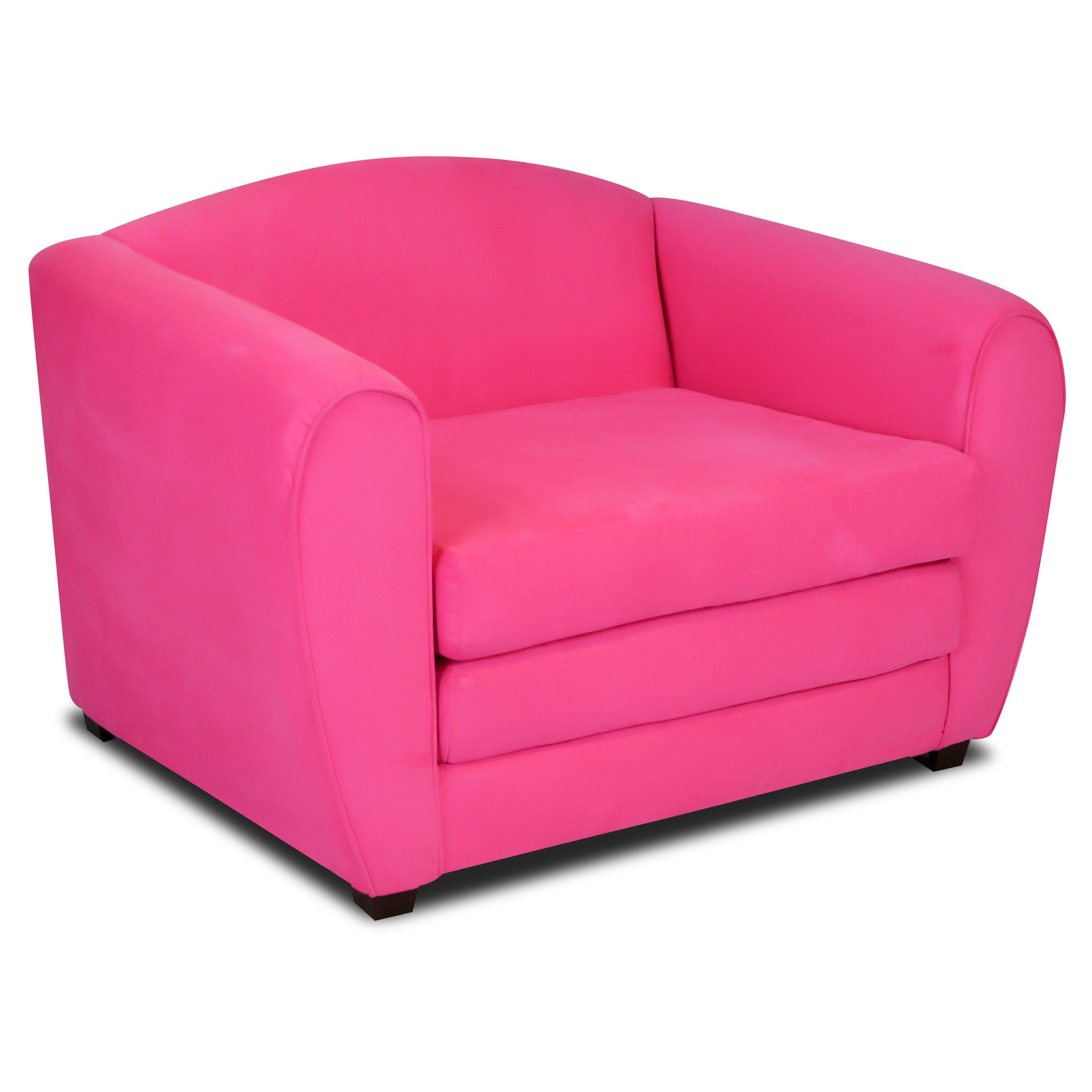 Totally Tween Chair Sleeper - Passion Pink Suede - 3021PP