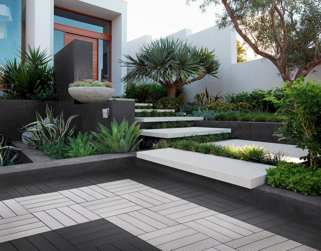 12 Cool Modern Front Yard Design Ideas You Have To See Freshouz Com Modern Front Yard Front Yard Design Modern Landscaping