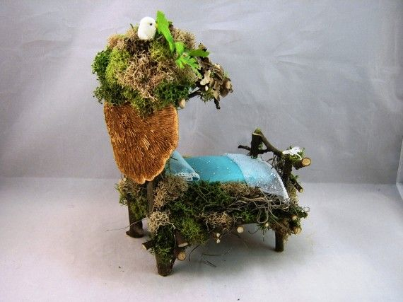 Rooftop Garden Fairy Bed Rustic Twig by TheSteamPunkCatSlave